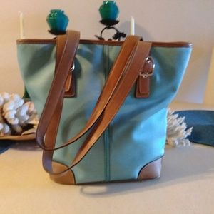 Coach Baby Blue purse. 10 H. X 11.5 L.